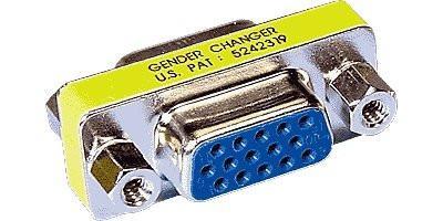 VGA Gender Changer HD15, F/F Thin