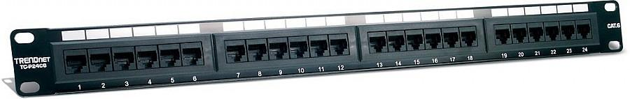 TRENDnet 24-Port Cat6 Unshielded Patch Panel Wallmount or Rackmount