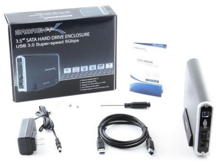 Sabrent USB 3 0 SATA 3 5-Inch Aluminum Hard Drive Enclosure