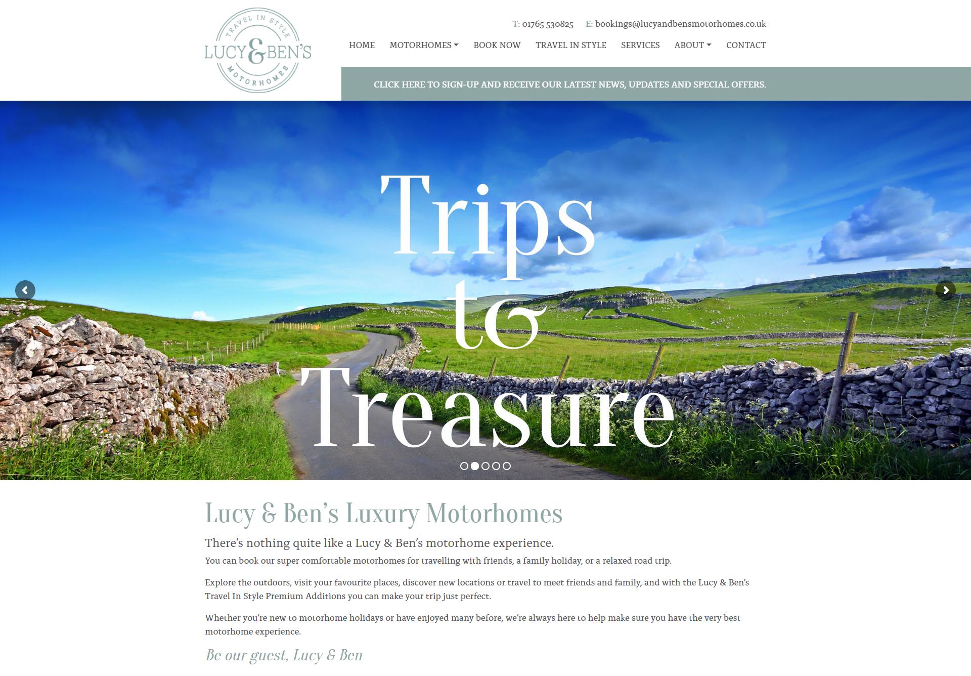 Lucy & Ben's Motor homes website