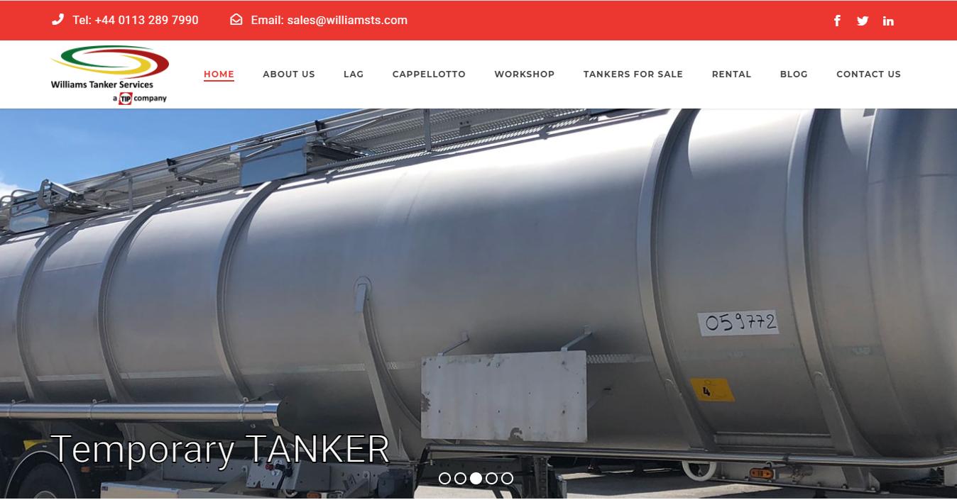 Website for Williams Tanker
